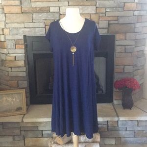 T-Shirt Dress with Necklace!